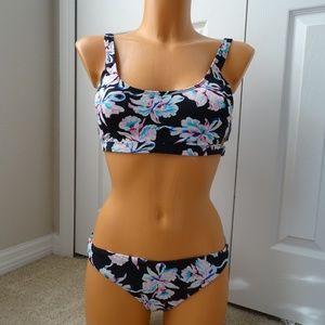 Bar III NWT 2 Piece Vintage Floral Bikini Set XL/L